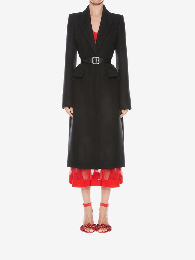 ALEXANDER MCQUEEN Cashmere Corset Coat Coat D r