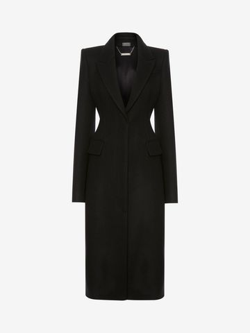 ALEXANDER MCQUEEN Cashmere Corset Coat Coat D f