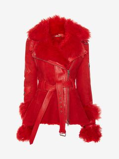ALEXANDER MCQUEEN Jacket D Exploded Shearling Peplum Jacket f
