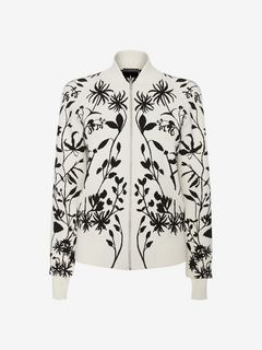 ALEXANDER MCQUEEN Jacket Woman Knitted Bomber Jacket f