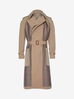 ALEXANDER MCQUEEN Coat Man Deconstructed Trench Coat f