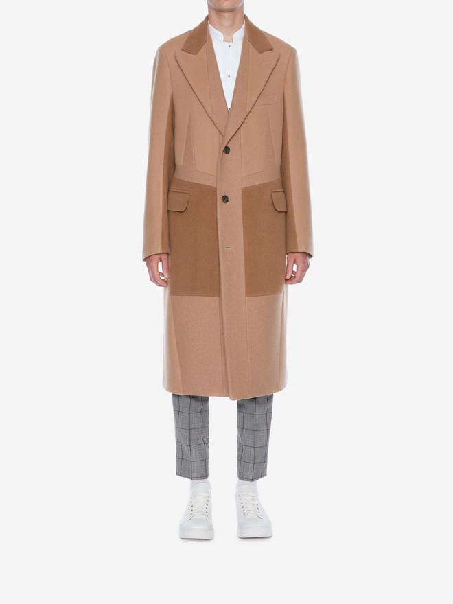 ALEXANDER MCQUEEN Patchwork Coat Coat Man r