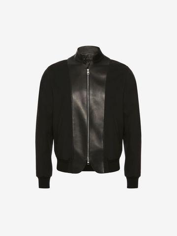 ALEXANDER MCQUEEN Leather bib Bomber Jacket Jacket U f