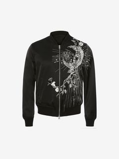 ALEXANDER MCQUEEN Jacket Man Embroidered Bomber Jacket f