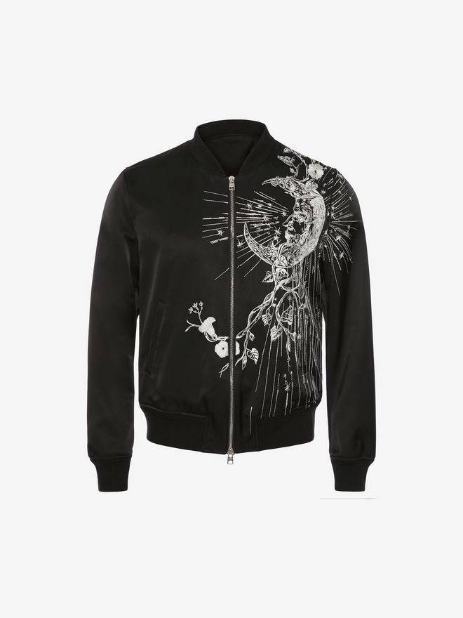 ALEXANDER MCQUEEN Embroidered Bomber Jacket Jacket Man f