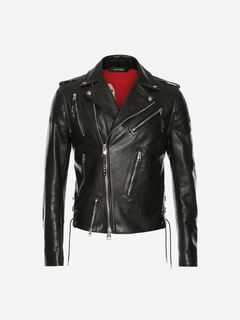 ALEXANDER MCQUEEN Jacket Man Leather Biker Jacket f