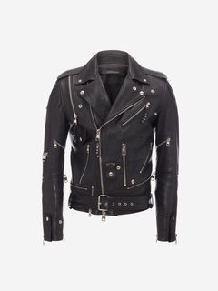 ALEXANDER MCQUEEN Jacket Man Zipped Biker Jacket f