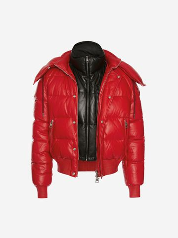 ALEXANDER MCQUEEN Down-filled Lambskin Leather Puffer Jacket Jacket U f