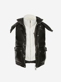 ALEXANDER MCQUEEN Jacket Man Lambskin Leather Down Jacket f