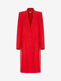 ALEXANDER MCQUEEN Coat Woman Double Faced Cashmere Coat f