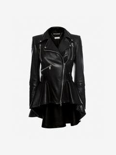 ALEXANDER MCQUEEN レザージャケット・コート レディース Leather Biker Jacket f