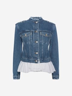 ALEXANDER MCQUEEN Jacket Woman Denim Peplum Jacket f
