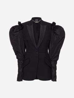 ALEXANDER MCQUEEN Jacket Woman Drape Shoulder Tailored Jacket f
