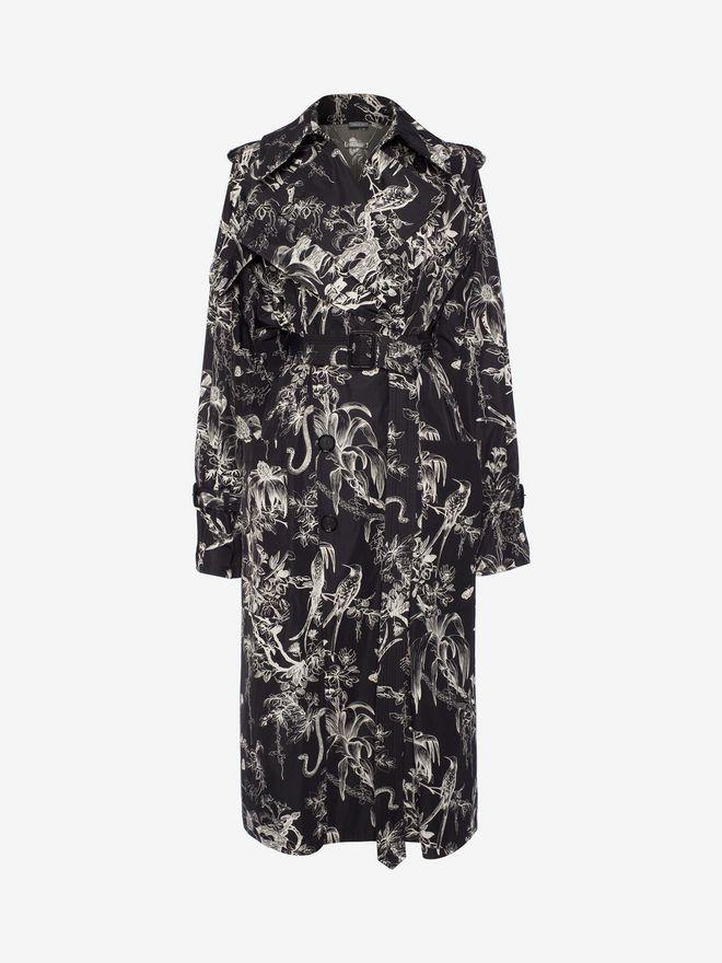 ALEXANDER MCQUEEN Bird Sketch Trench Coat Coat Woman f