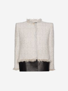 ALEXANDER MCQUEEN Jacket Woman Soft Tweed Box Jacket f