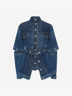 ALEXANDER MCQUEEN Jacket Woman Deconstructed Denim Jacket f