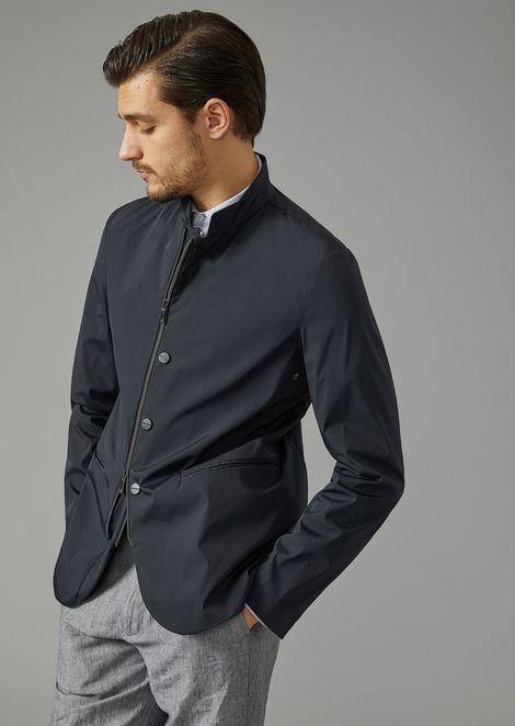 Water Repellent Microfibre Jacket for Men | Giorgio Armani | Tuggl