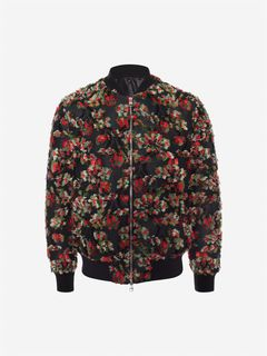 ALEXANDER MCQUEEN Giacca Uomo Giacca Bomber Jacquard Effetto Inside-Out f