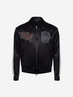 ALEXANDER MCQUEEN Jacket Man Embroidered Skull Map Bomber Jacket f