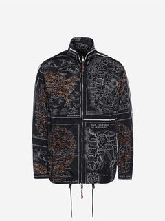 ALEXANDER MCQUEEN ジャケット メンズ Skull Map Blouson Jacket f