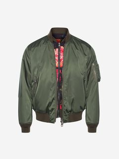 ALEXANDER MCQUEEN Jacket Man Painted Rose Bib Bomber Jacket f