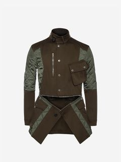 ALEXANDER MCQUEEN Coat Man Deconstructed Field Jacket f
