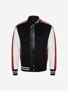 ALEXANDER MCQUEEN Jacket Man Embroidered Varsity Jacket f