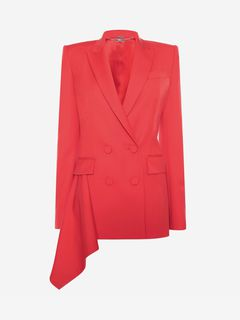 ALEXANDER MCQUEEN Jacket Woman Double-Breasted Drape Jacket f