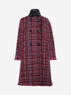 ALEXANDER MCQUEEN Coat Woman Double-Breasted Tweed Coat f