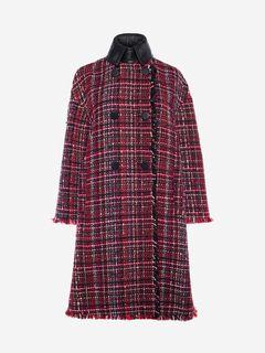 ALEXANDER MCQUEEN コート レディース Double Breasted Tweed Coat f