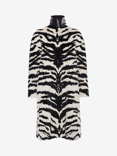 ALEXANDER MCQUEEN Coat Woman Tiger Jacquard Coat f