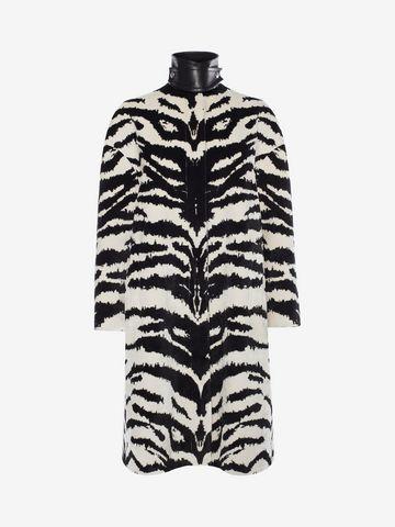 Cheap In China Clearance Cheapest tiger jacquard coat - Black Alexander McQueen Geniue Stockist Sale Online Cheap Sale Ebay 62Q6o5MK