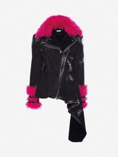 ALEXANDER MCQUEEN Jacket Woman Shearling Biker Jacket f