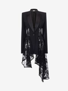 ALEXANDER MCQUEEN Jacket Woman Lace Drape Corset Jacket f