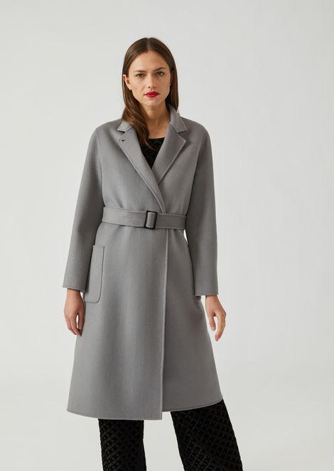 buy online b0e04 480cb Cappotto in puro cashmere con cintura removibile e collo con ...