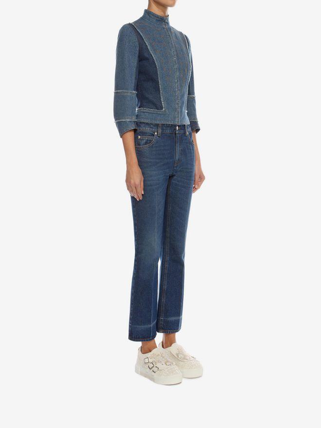 ALEXANDER MCQUEEN Crop Flare Jeans Trousers D d