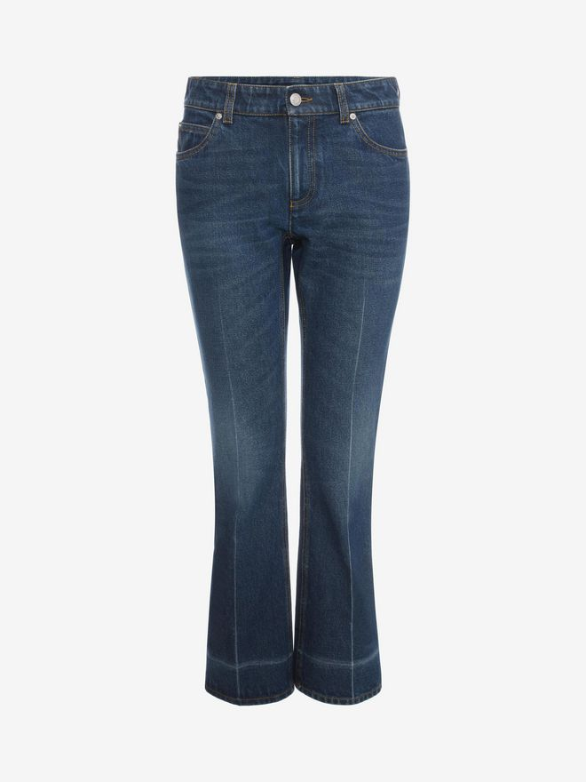 ALEXANDER MCQUEEN Crop Flare Jeans Trousers D f