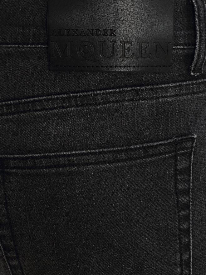 ALEXANDER MCQUEEN Black Skinny Fit Jeans Jeans Man l