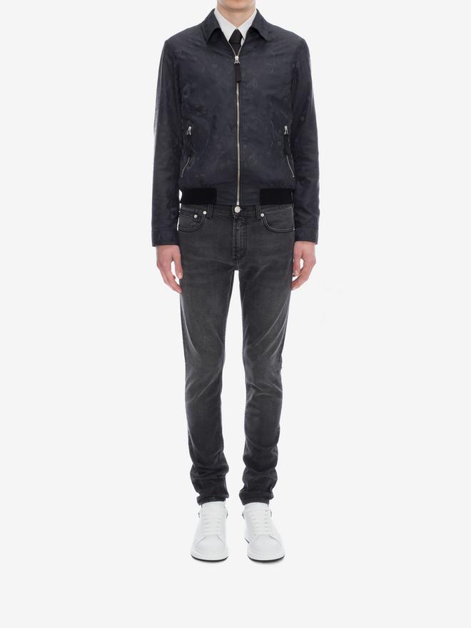 ALEXANDER MCQUEEN Black Skinny Fit Jeans Jeans Man r