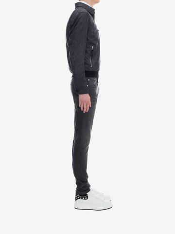 ALEXANDER MCQUEEN Black Skinny Fit Jeans Jeans Man d
