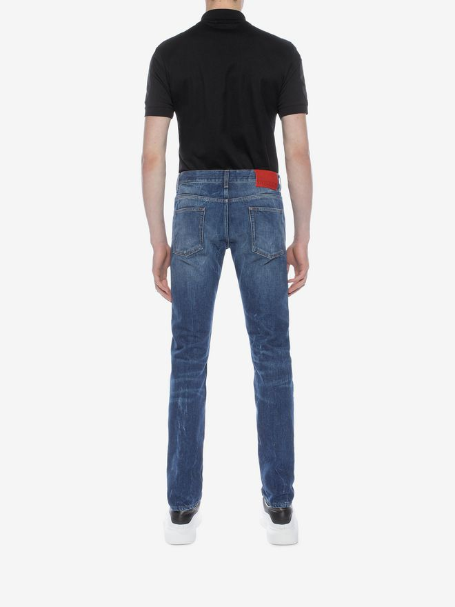ALEXANDER MCQUEEN Ripped Grosgrain Jeans Jeans U e