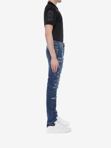 ALEXANDER MCQUEEN Ripped Grosgrain Jeans Jeans U d