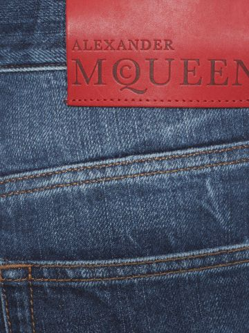 ALEXANDER MCQUEEN Ripped Grosgrain Jeans Jeans U l