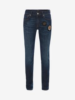 ALEXANDER MCQUEEN Jeans U Stretch Blue Jeans f