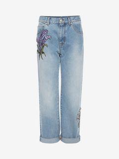 ALEXANDER MCQUEEN Jeans D Embroidered Boyfriend Jeans f
