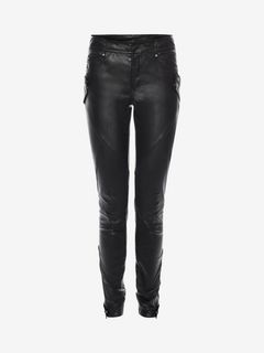 ALEXANDER MCQUEEN Pants D Leather Stretch Biker Pants f