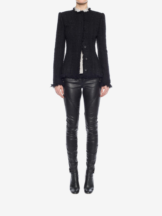 ALEXANDER MCQUEEN Leather Stretch Biker Pants Pants D r