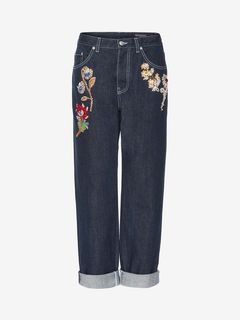 ALEXANDER MCQUEEN Jeans D Embroidered Boyfriend Denim Trouser f