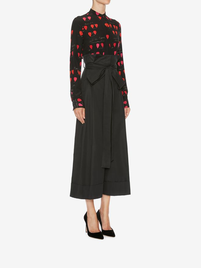 ALEXANDER MCQUEEN High Waisted Culottes Pants Woman d