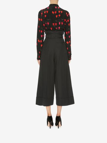 ALEXANDER MCQUEEN High Waisted Culottes Pants Woman e